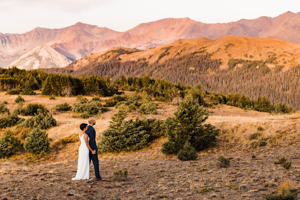 surnise adventure session in Rocky Mountain National Park | Colorado mountain wedding photographers