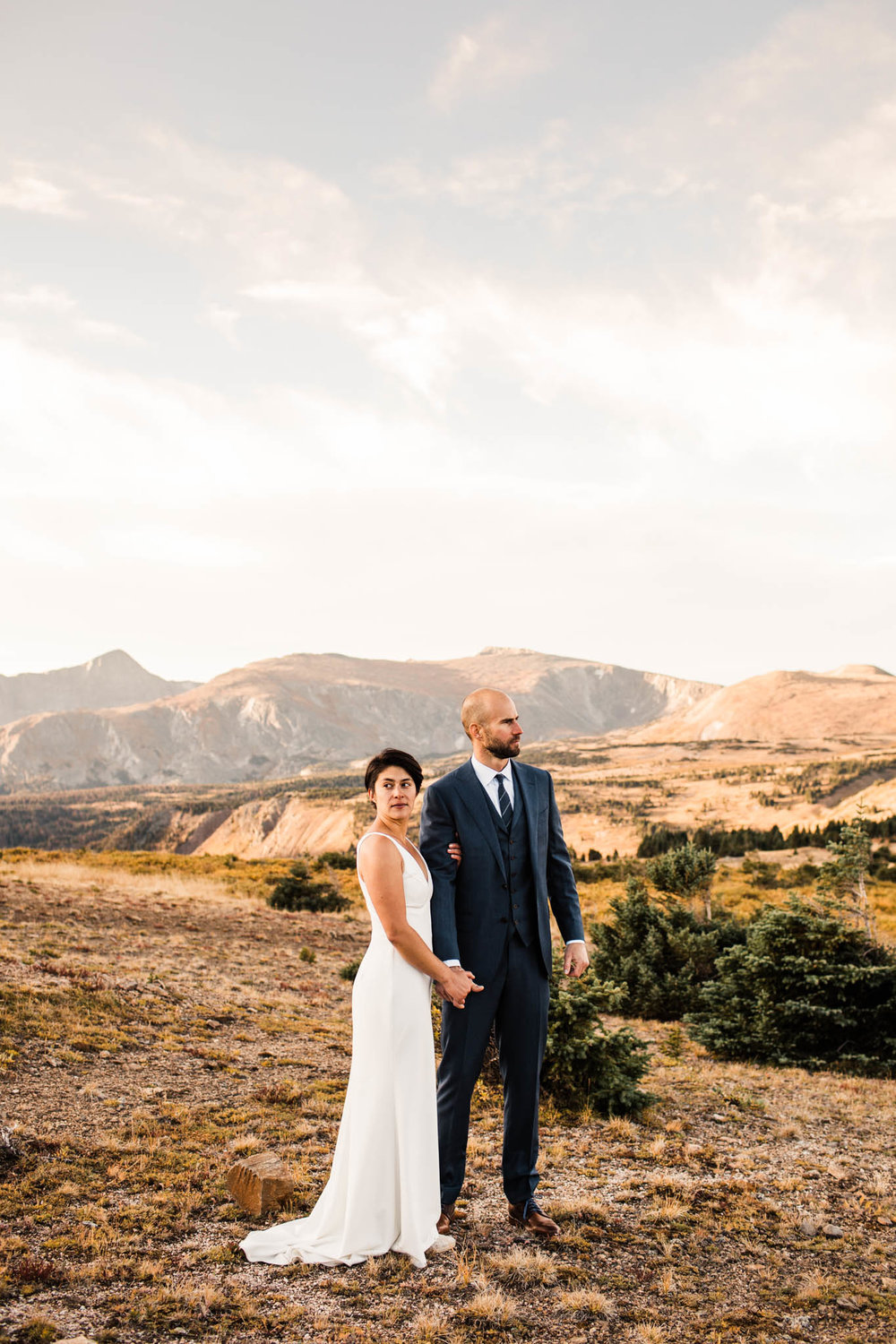 sunrise post-wedding session in the mountains | Best Colorado wedding photographers