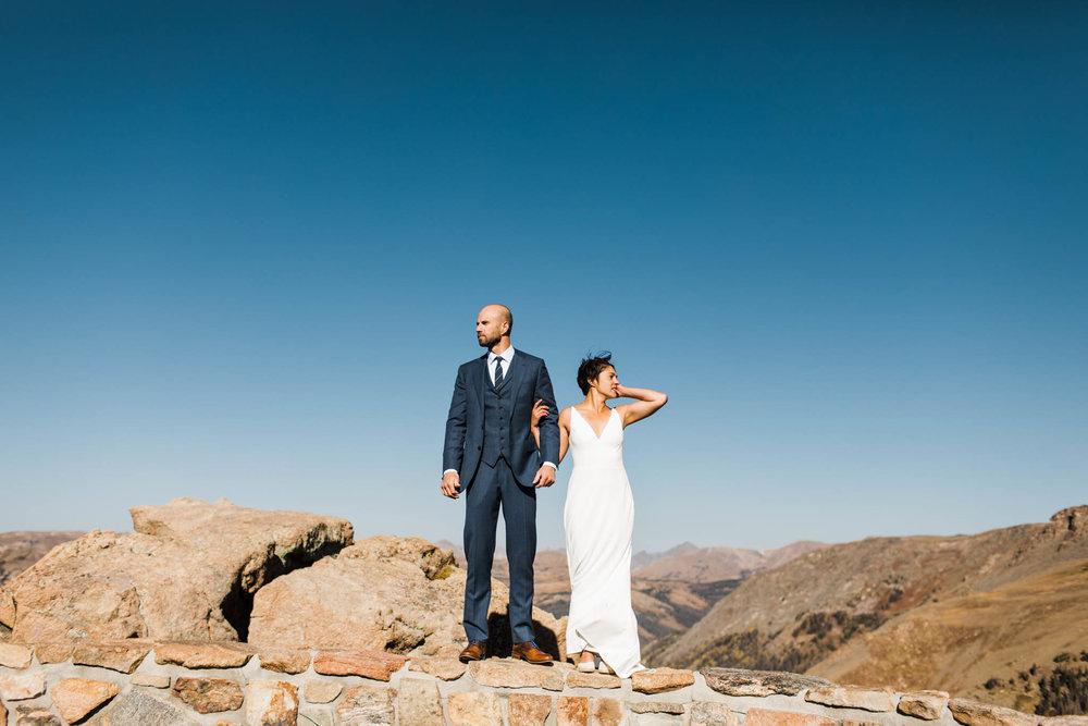 Rocky Mountain wedding photos | Adventure elopement photographers | Best Colorado wedding photographers
