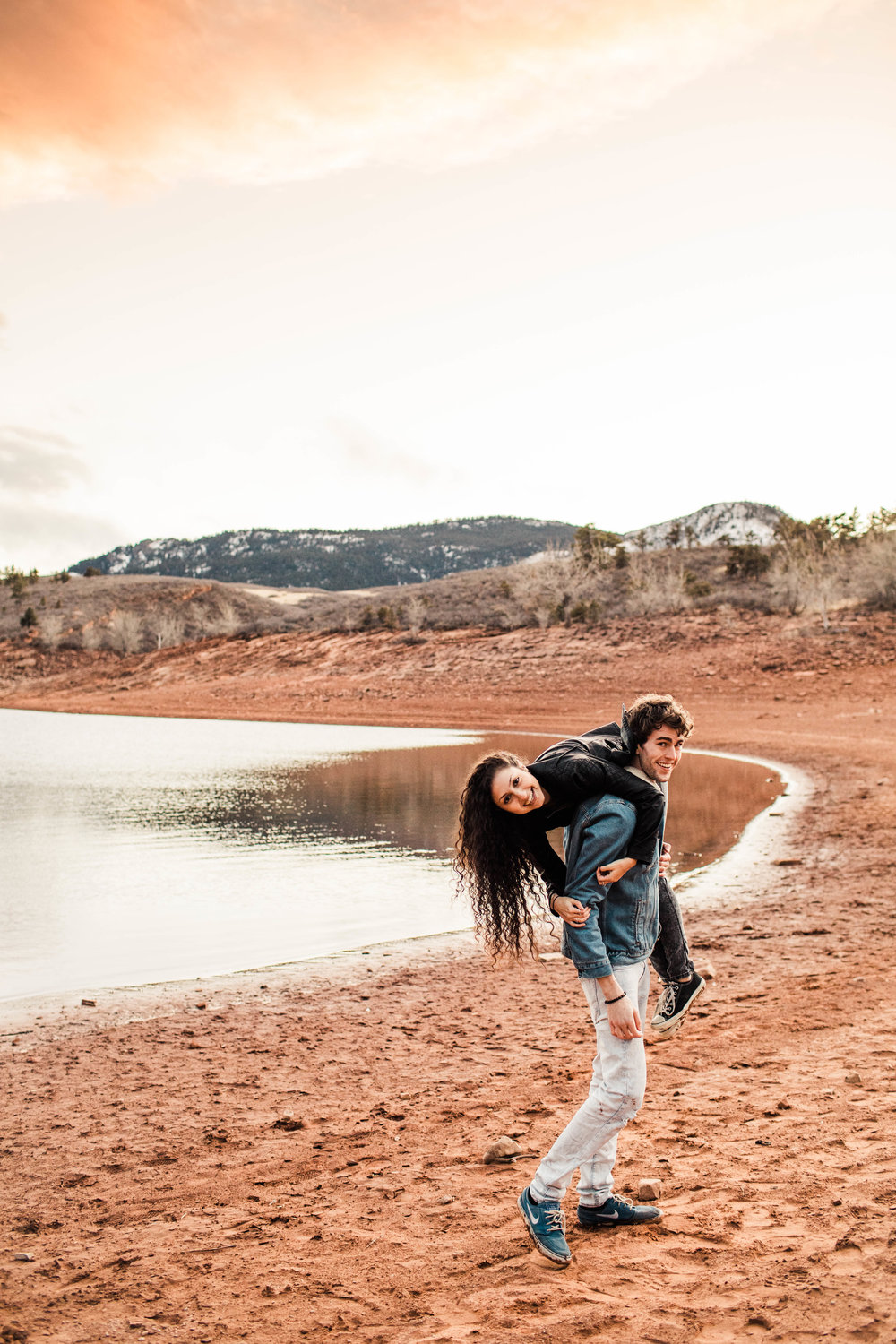 Lakeside engagement session in the Colorado Front Range | Fort Collins wedding photographers