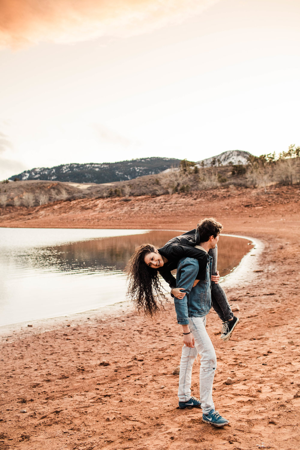 Lakeside engagement in the Colorado Front Range | Fort Collins wedding photographers