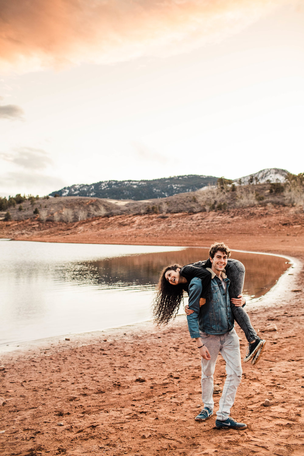 Lakeside engagement in the Colorado Rocky Mountain Foothills | Fort Collins wedding photographers
