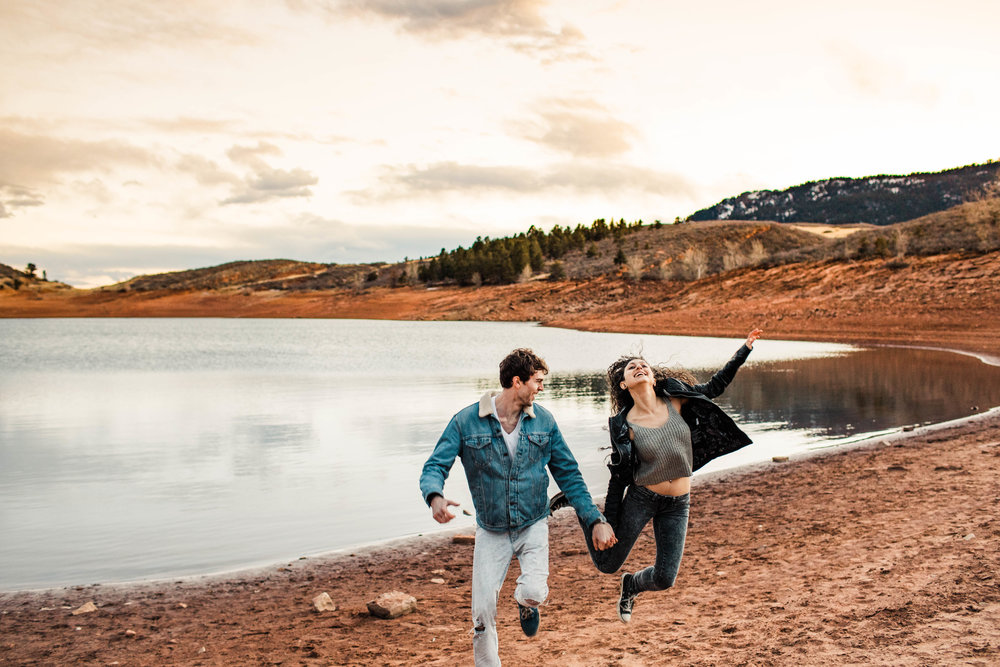 alpine lake engagement session in Fort Collins Colorado | Fort Collins wedding photographers
