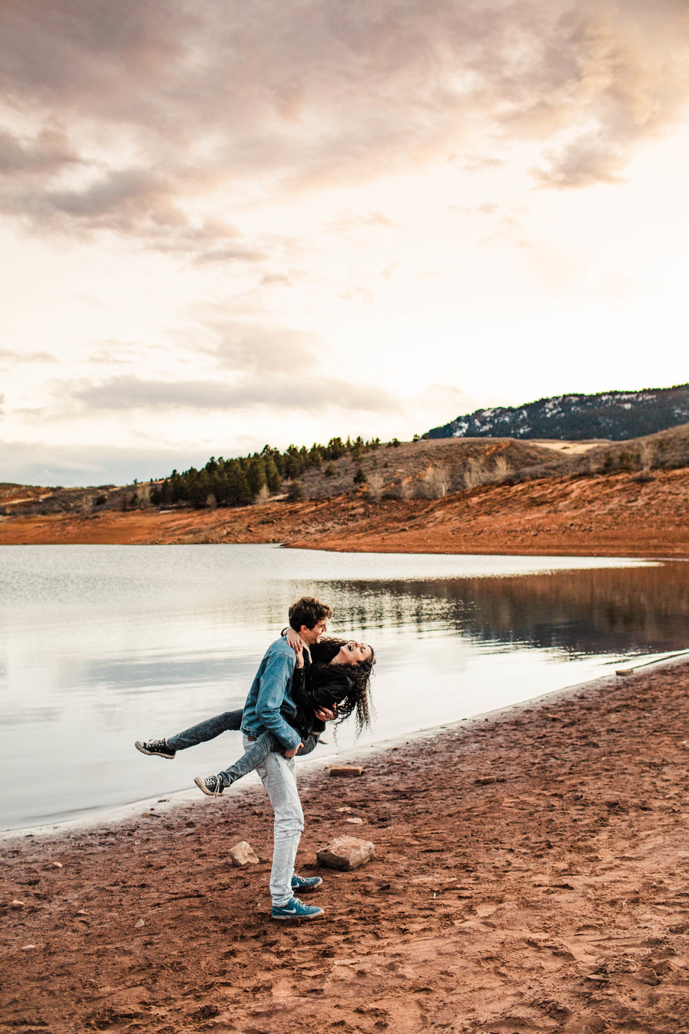 dancing during Colorado engagement photos | best Fort Collins wedding photographers