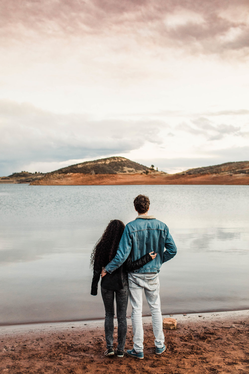 Colorado engagement photos by a lake in the Rocky Mountains | Fort Collins wedding photographers
