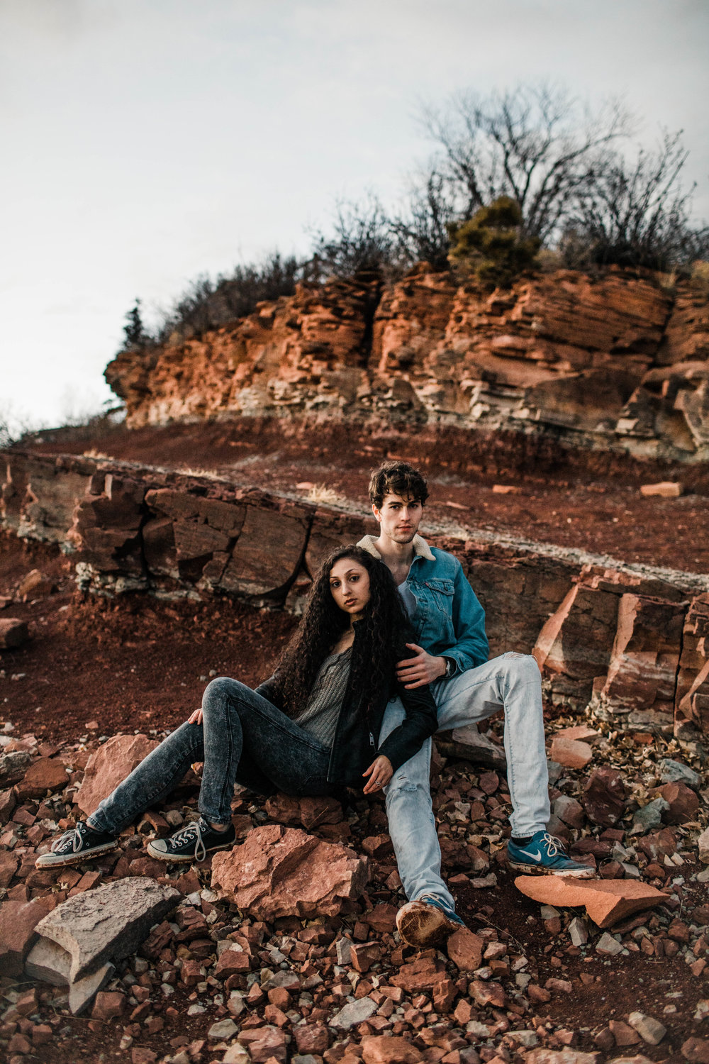 lakeside Fort Collins engagement photos in the mountains of Colorado | Fort Collins wedding photographers
