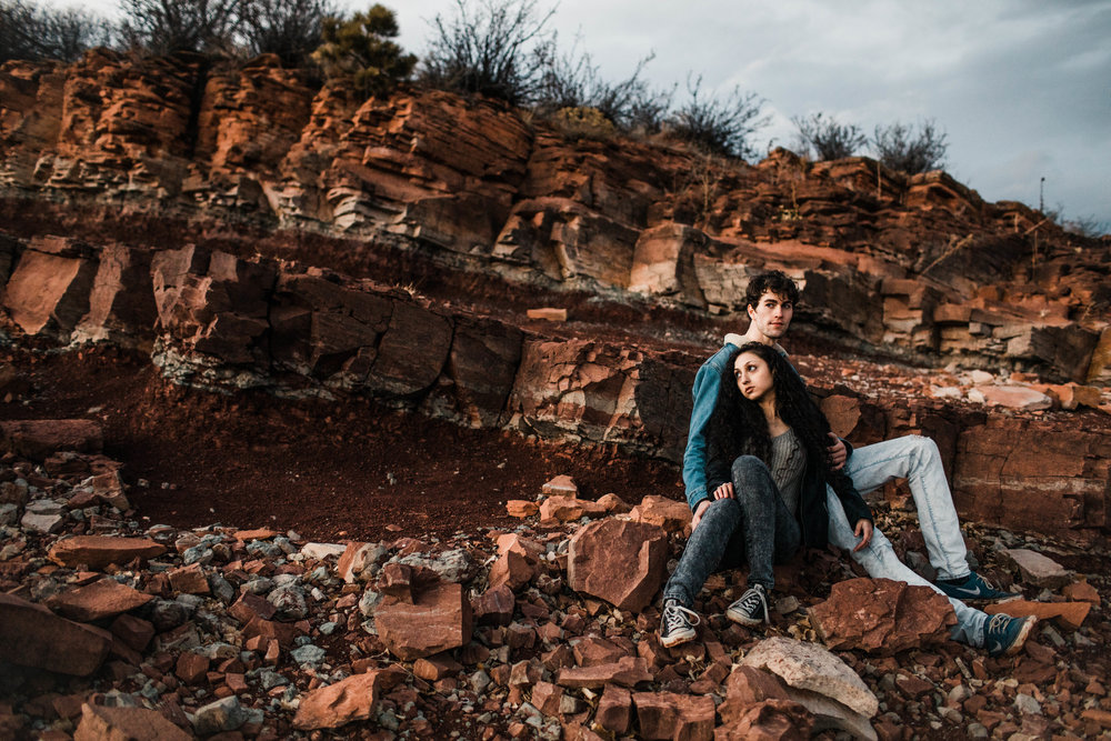 Rock wall engagement photos in the Rocky Mountains of Colorado | Fort Collins wedding photographers