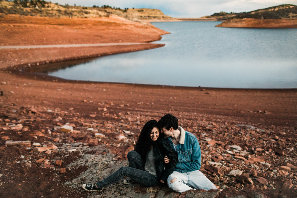 tickle attack engagement photos in Colorado's northern Front Range | best Fort Collins wedding photographers
