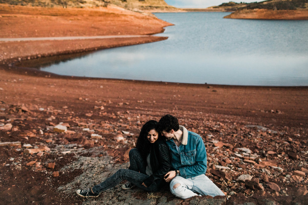 cute Colorado engagement photos in the Rocky Mountains | Fort Collins wedding photographers