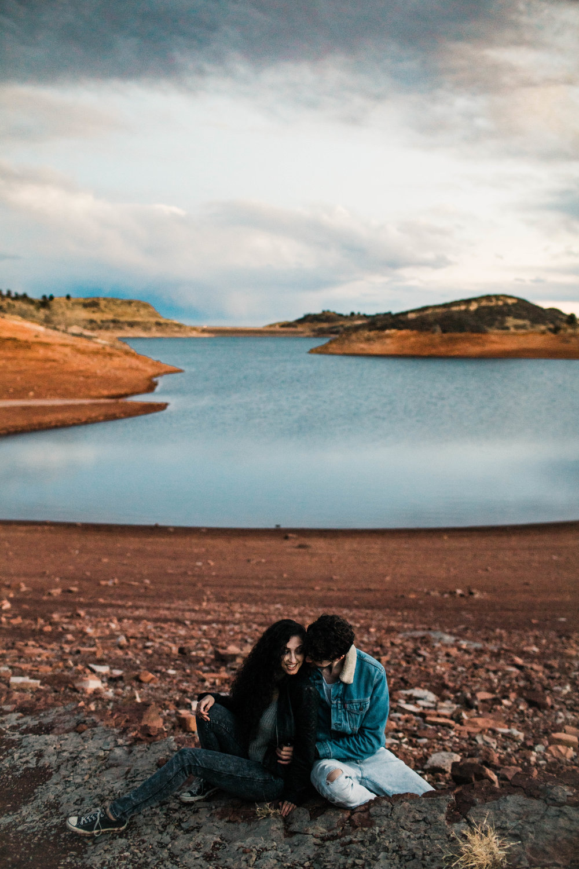mountain adventure session by Colorado wedding photographers | Fort Collins wedding photographers