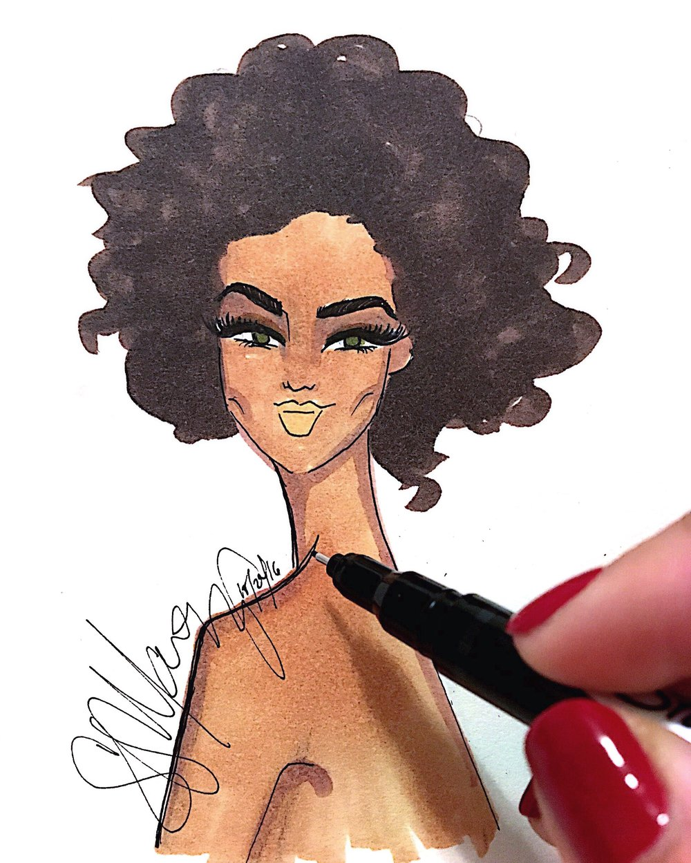 behind the scenes - News, tidbits, and a behind the scenes look into the making of my Saranovelas.All illustrations are hand drawn using a combination of watercolor markers and colored pencils. For custom portraits, commissions and collaborations, take a look at my Products page and/or contact me at saranovelitas@gmail.com.