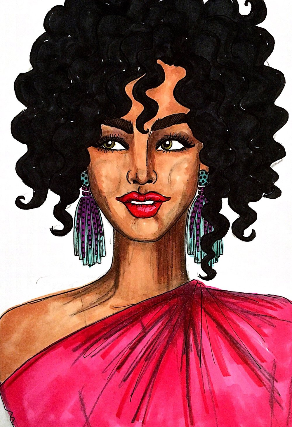 FASHION & beauty ILLUSTRATION - One of my favorite things about living in New York City: I am never without inspiration for my drawings. There are the women at power lunches on Madison Avenue, not a hair out of place, their linen suits crisp, perfect. The beautiful woman on her way to a Saturday night date, having put great effort into looking effortless. The fashionistas navigating the Meatpacking District's cobblestone streets in their five-inch Laboutins. The trio brunching in a Williamsburg cafe, handmade leather bags  and cozy knits hanging from the backs of their walnut chairs. The wild-haired dancer running out from a last rehearsal, loose fabrics hanging beautifully on her long limbs. The bespectacled NYU student hiding out in a corner at Strand, tattered vintage denim jacket lying next to her stack of books. The blushing bride tossing her bouquet outside City Hall. Everywhere I look, there is something, someone.