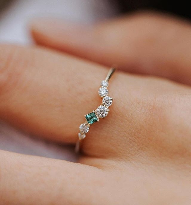 How beautiful is this unique emerald and diamond engagement ring?! via @ohreverie | ring @melaniecaseyjewelry #engagementring #ring #ringinspiration #love #beautiful #unique #simple #diamonds #emeralds #sparkly #shesaidyes #ido #gettingmarried #jewelry #weddingjewelry #modern #jewelryinspo #pursuepretty #livecolorfully #bling #stones #gems #ohwowyes #perfection #classic #weddingblog #bride #brideinspo #parsimonyinspired