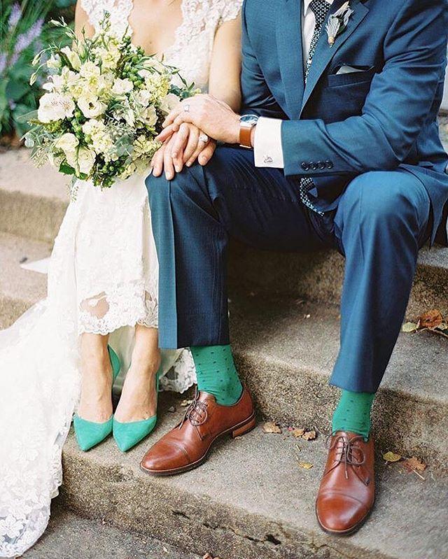 Love this adorable coordinating couple! via @gogoheel | photo @mikecassimatis #wedding #weddingblog #weddinginspo #weddingday #weddingwednesday #bride #groom #fashion #weddingfashion #photography #weddingphotography #love #couple #coordinating #shoes #socks #details #weddingdetails #livecolorfully #pursuepretty #unique #weddingportrait #portrait #goals #perfection #adorable #ido #gettingmarried #parsimonyinspired