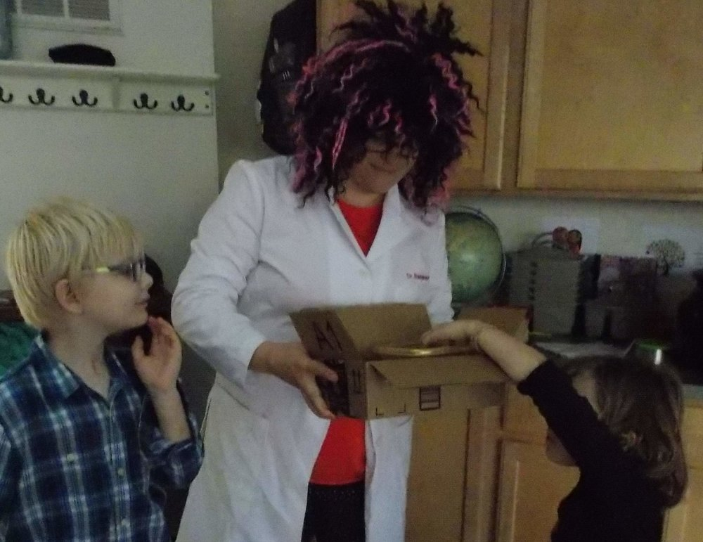 What's in the box? Is it brains? Eyeballs? Intestines?