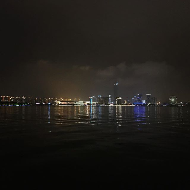 Suzhou highlights. Skyline across Jinji lake( that's a small part of the city) and looking across Yangcheng lake.