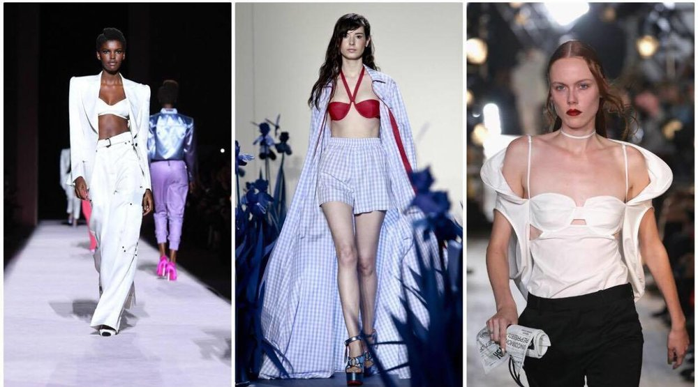 Bras Tops: All Season Long, pics letf to right Tom Ford & Adam Selman I'm so in Love with the new trend :) Hold my boobs properly and I will love you forever xXX