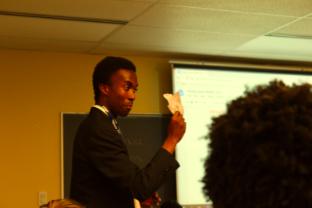 Rwanda's delegate, Ousmane Ndiaye-Kaberamanzi