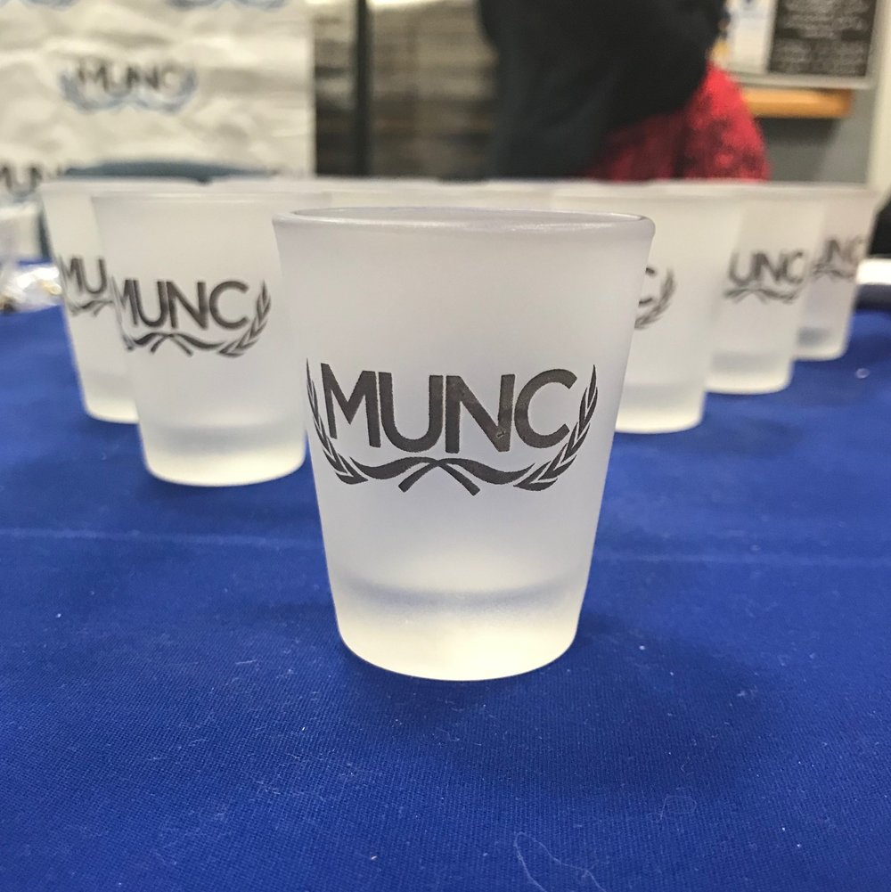 Shot glasses are now being sold for $5 on the fifth floor. Pick up this great memory and cheers the conference for years to come!