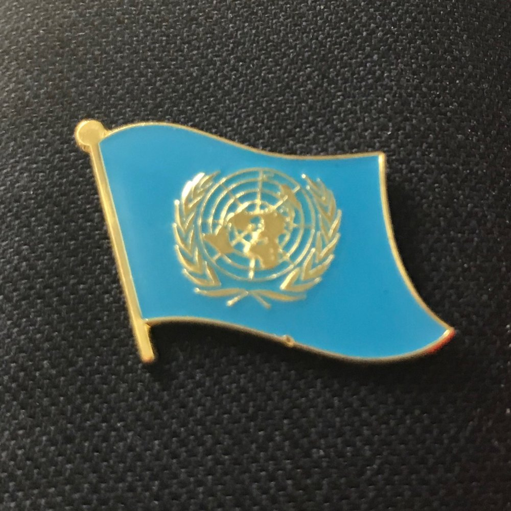 United Nations pins are the perfect addition to any MUN attire. They are now being sold for $3 each or 2/$5!