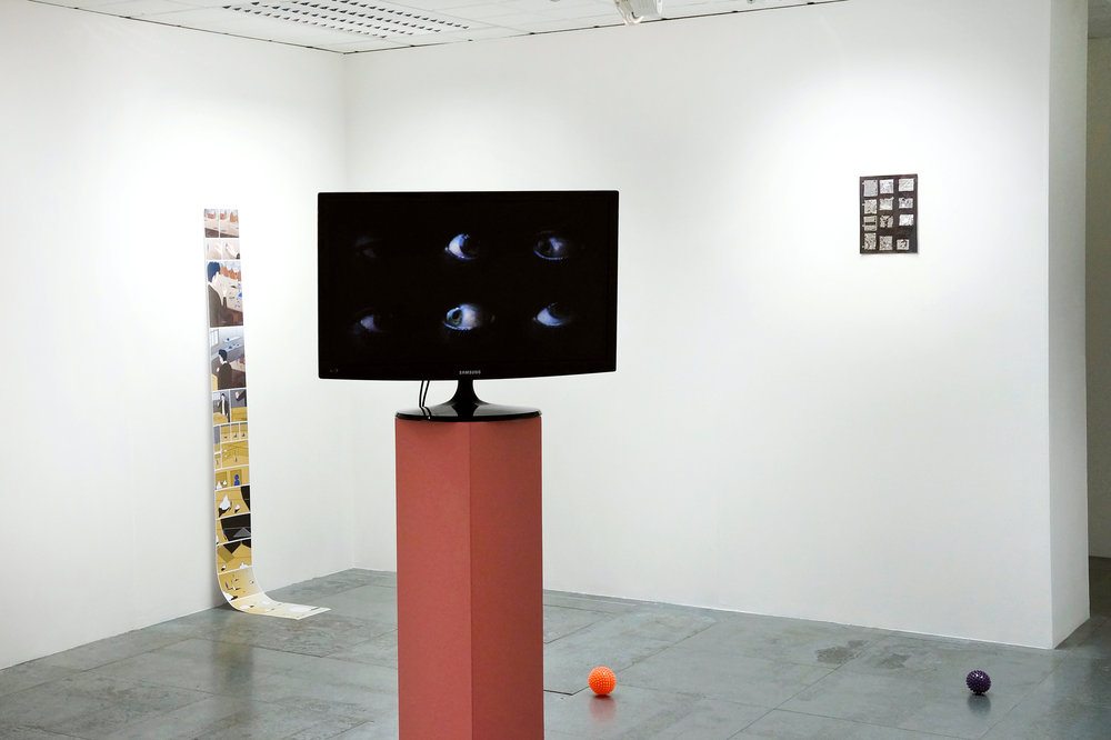 Matt Wilkinson,  Composition i , video, 2014, exhibited in  Dialogus .