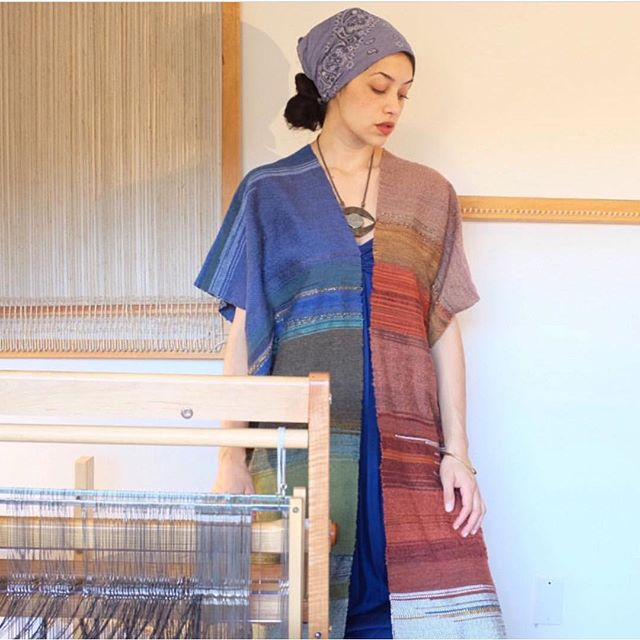One of my favorite artists I've been connected to via the world of Instagram is this woman @theghostdancer. In honor of International Woman's Day she is holding a giveaway for one of her exquisite handwoven garments. Follow her and see contest details to enter your chance to win one of them! I think there is still time and I can't think of a more generous and special gift. 💜🕊🌈