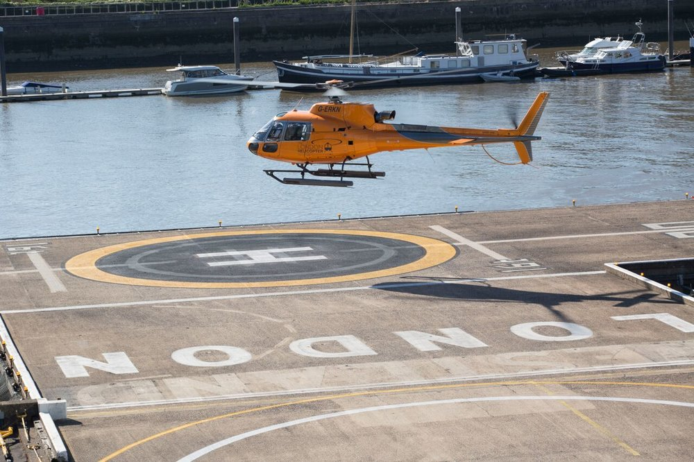 One of our 350's departing Battersea Heliport