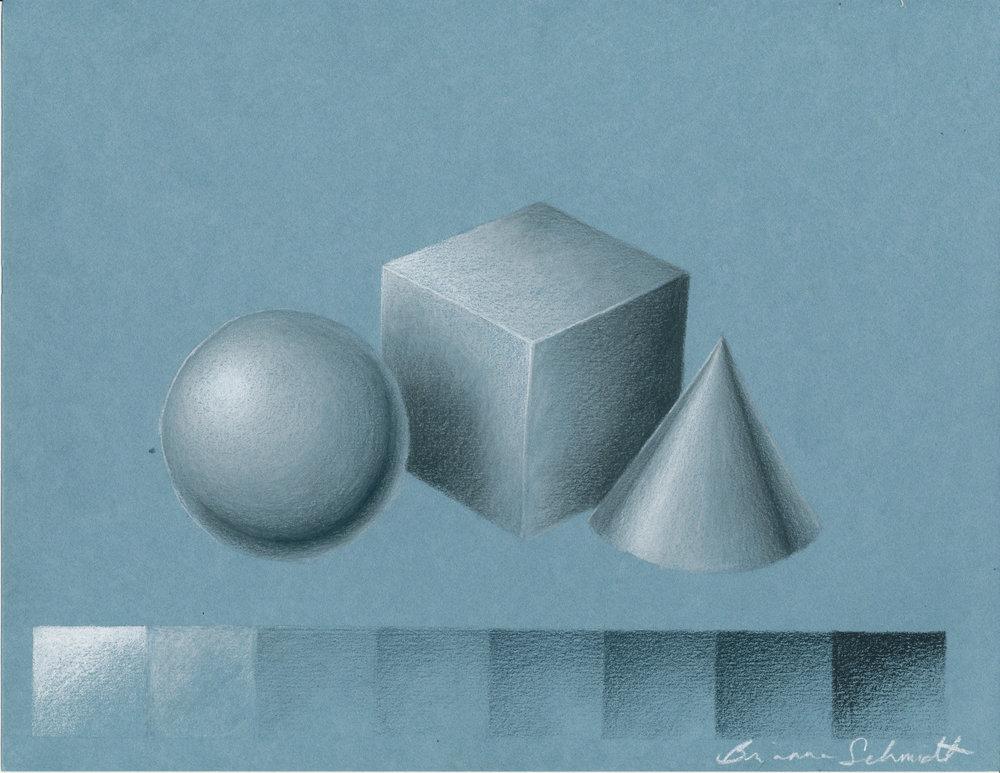 Silver rendering (colored pencil)