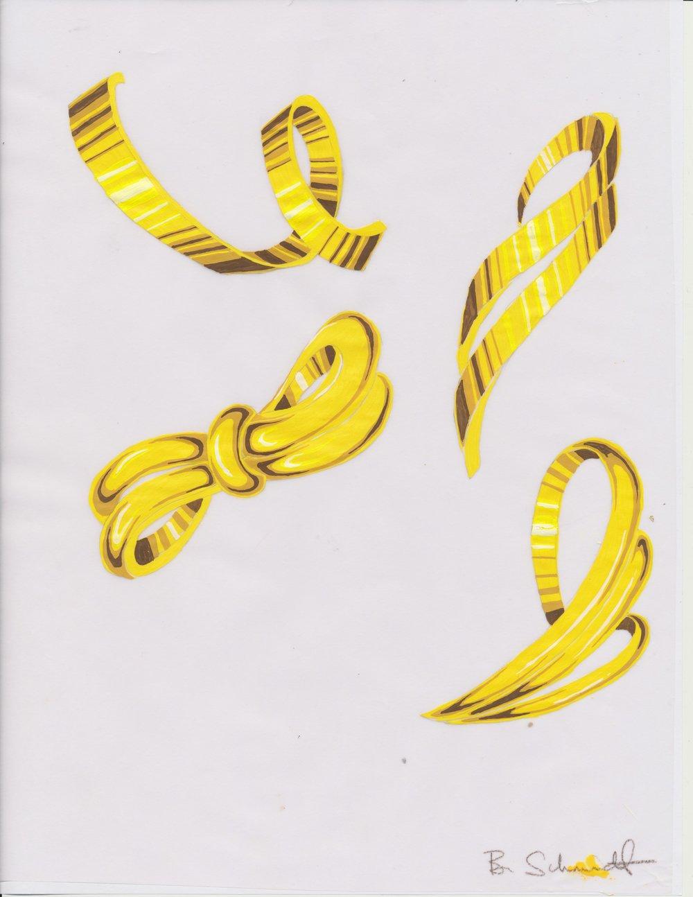 Gold rendering (guache)