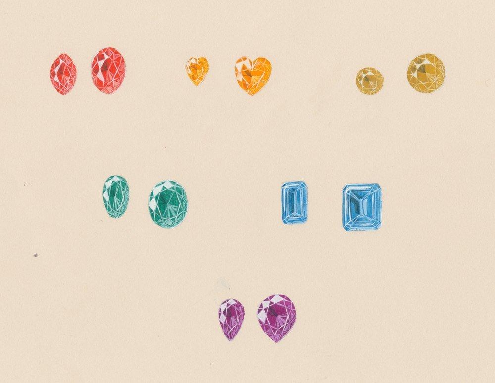 Gemstone rendering (guache)