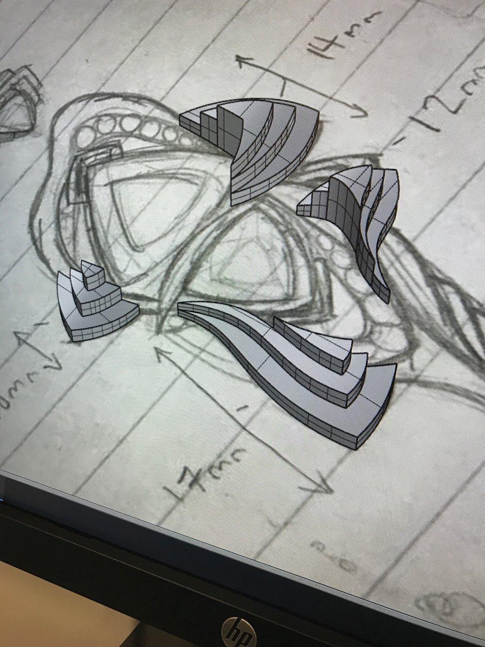 Initial CAD modeling (Sierra Adair)