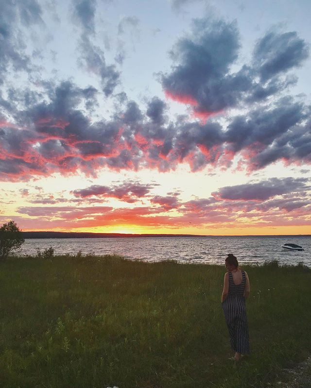 Sunsets in Northern Michigan 💕 #soulfood