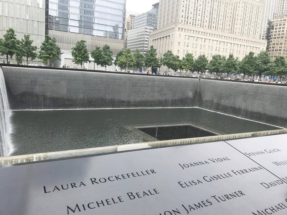 The 911 Memorial was very cool but the mood definitely brought me down.