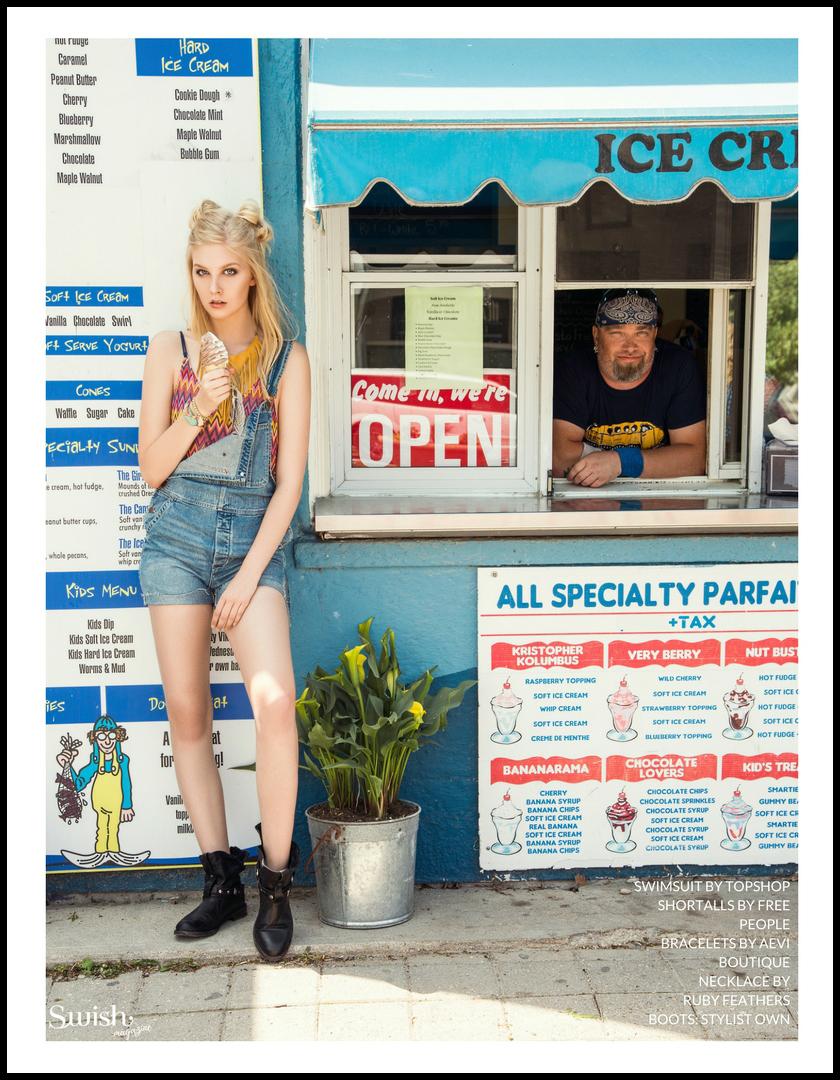 TOPSHOP Swimsuit |  Free People Shortalls |  Aevi Boutique     Bracelets   | Ruby Feathers Necklace