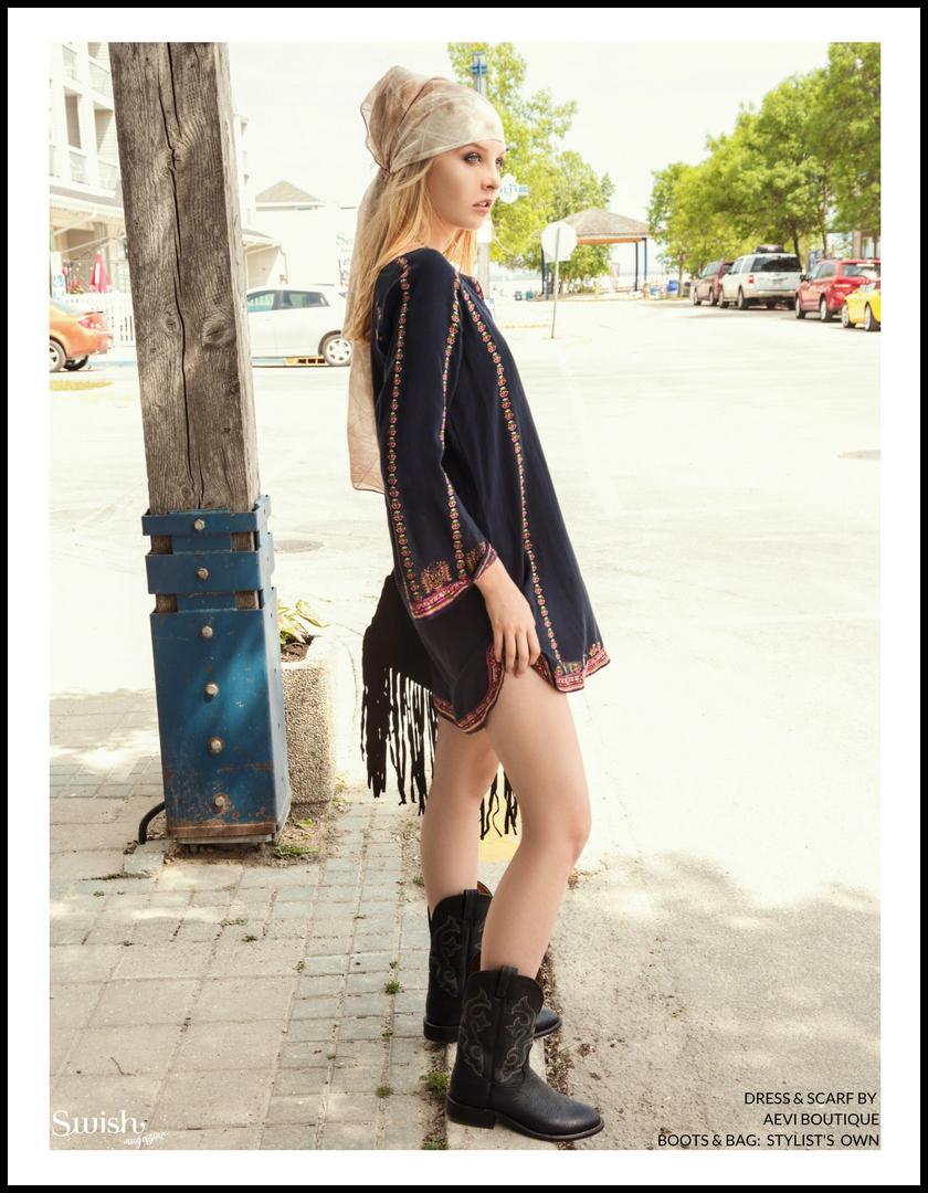 Dress & Scarf    -Aevi Boutique