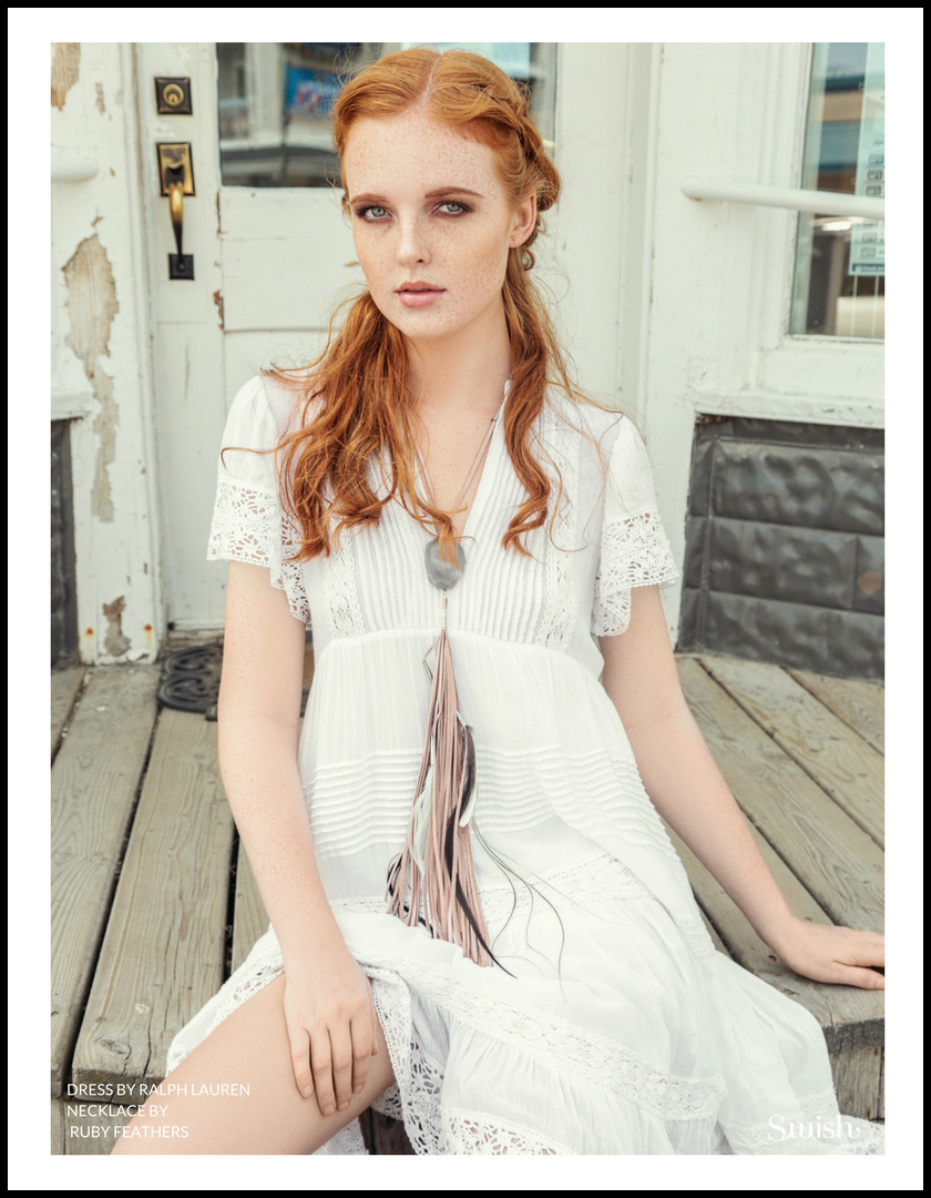 Ralph Lauren Dress |  Ruby Feathers Necklace