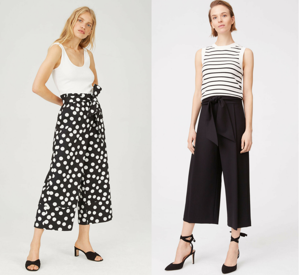 shop the look - Club Monaco- Izabelah Pant (right) Aladorah Pant (right)