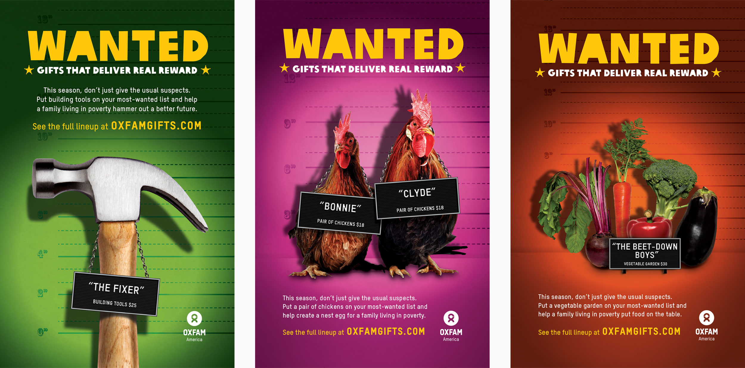 Oxfam Gifts ad campaigns — Jeff Deutsch Design