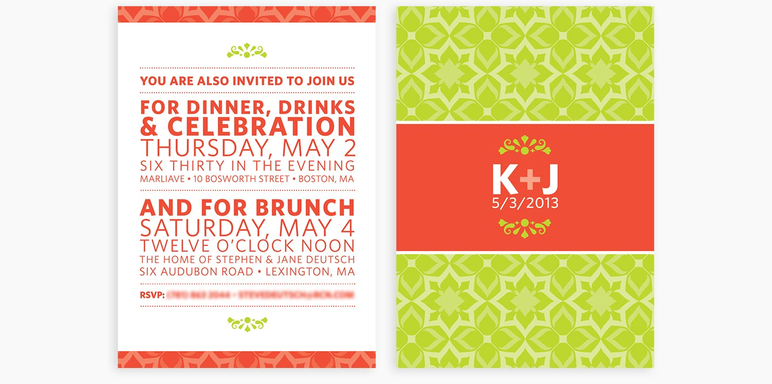 Wedding Invitations & Signage — Jeff Deutsch Design