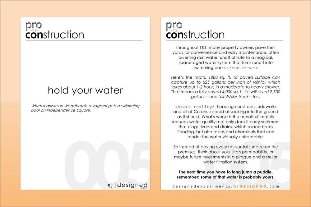 pvc005 hold your water  Stormwater runoff awareness