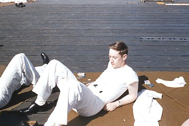 joe bryce on deck puerto rico 1955.jpg