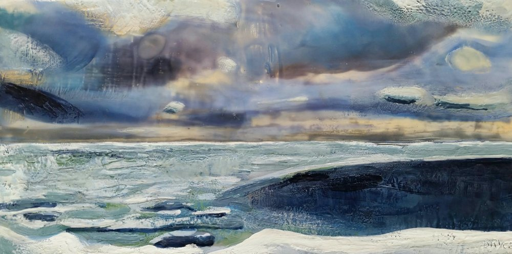 LAKE ONTARIO SHORELINE WITH ICE