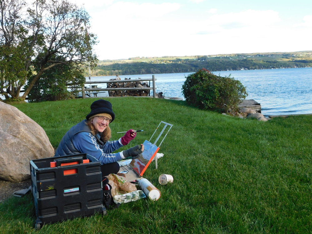 With GVPAP friends at Seneca Lake, Oct 2018