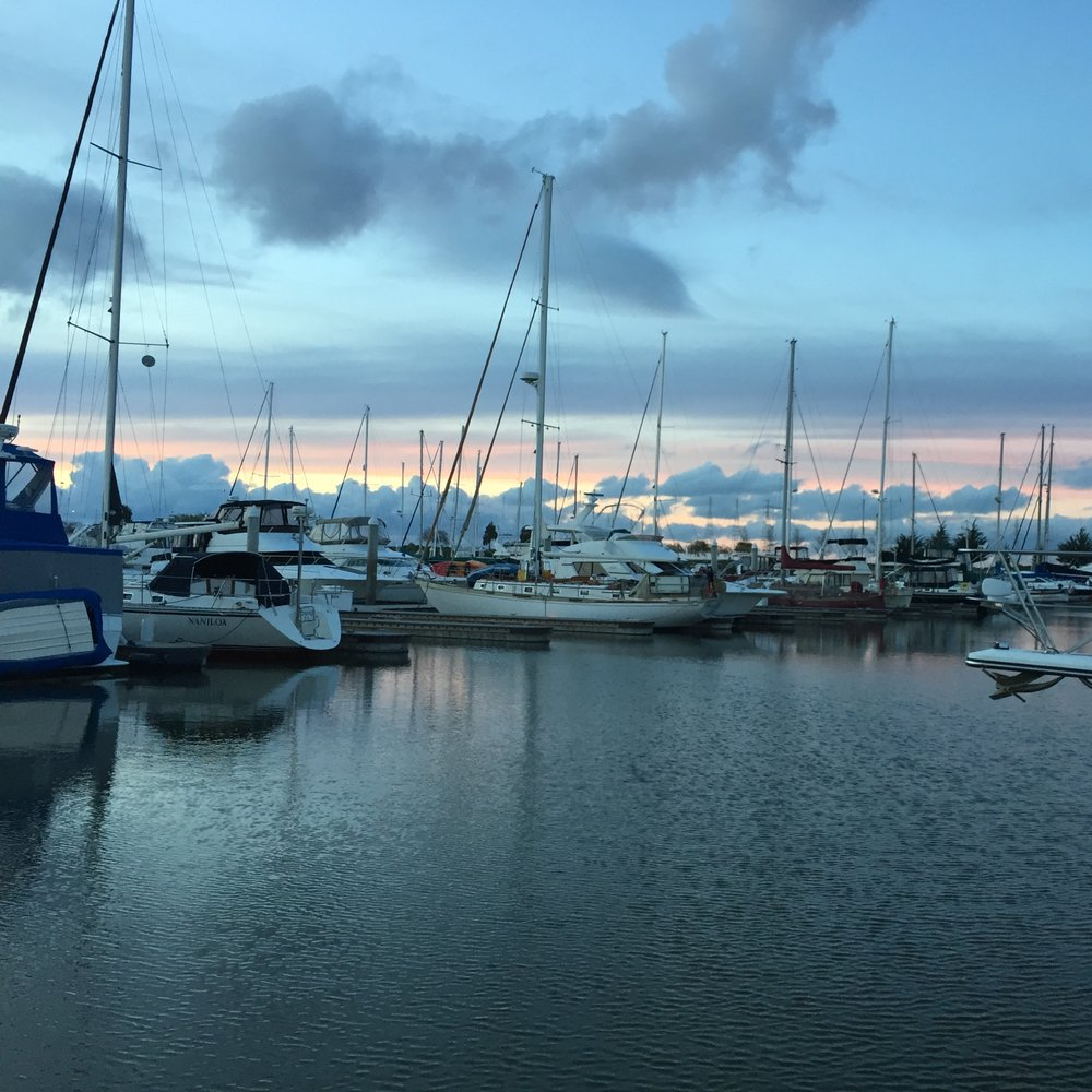 more winter clouds and harbor sunsets