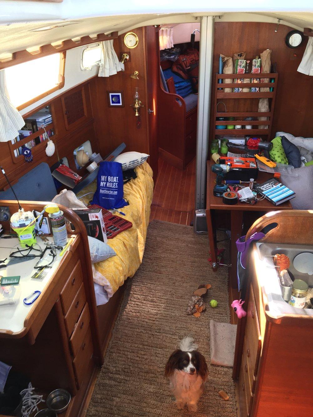boat work always looks like this!