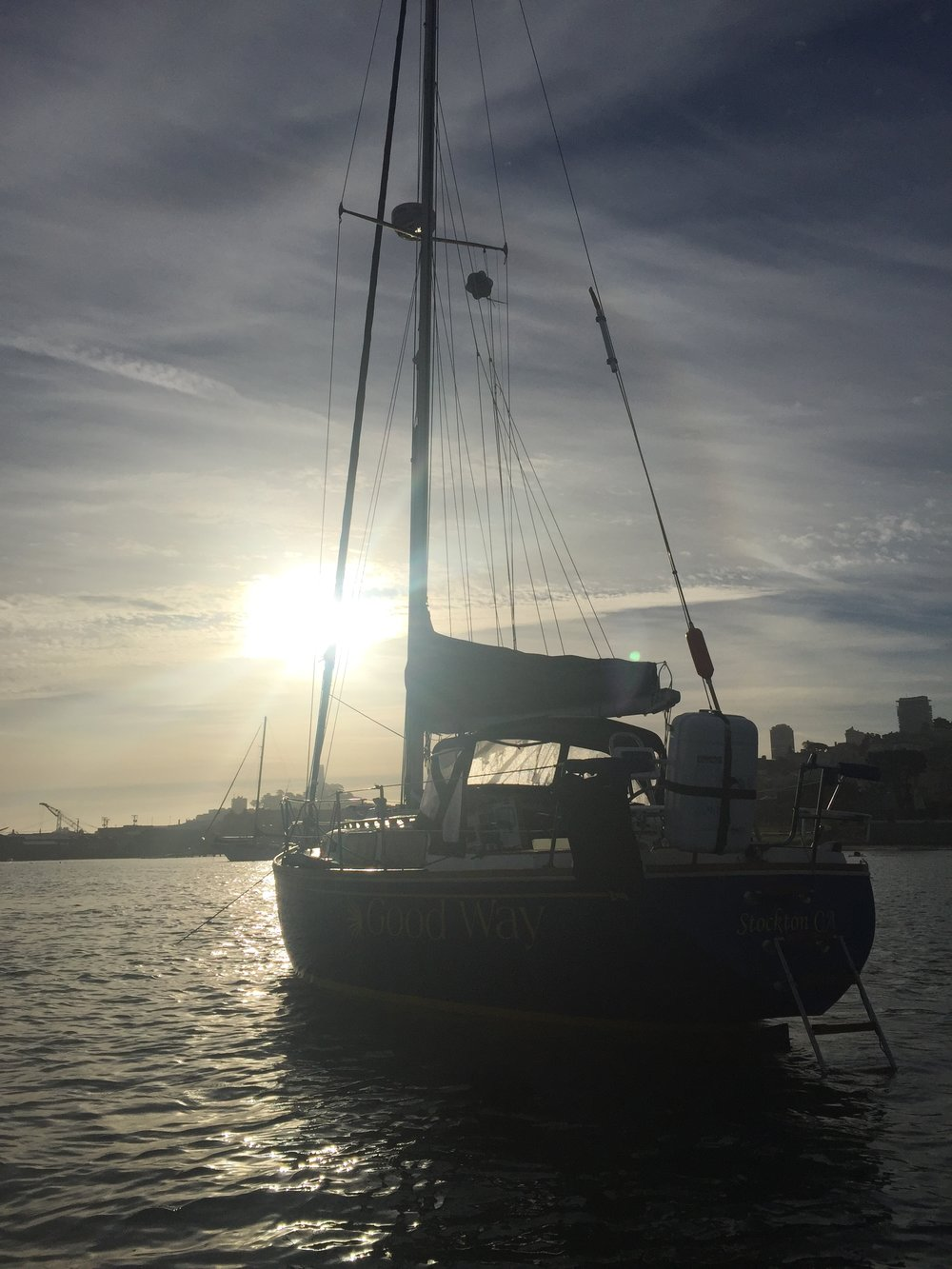 sunrise at aquatic park, san francisco