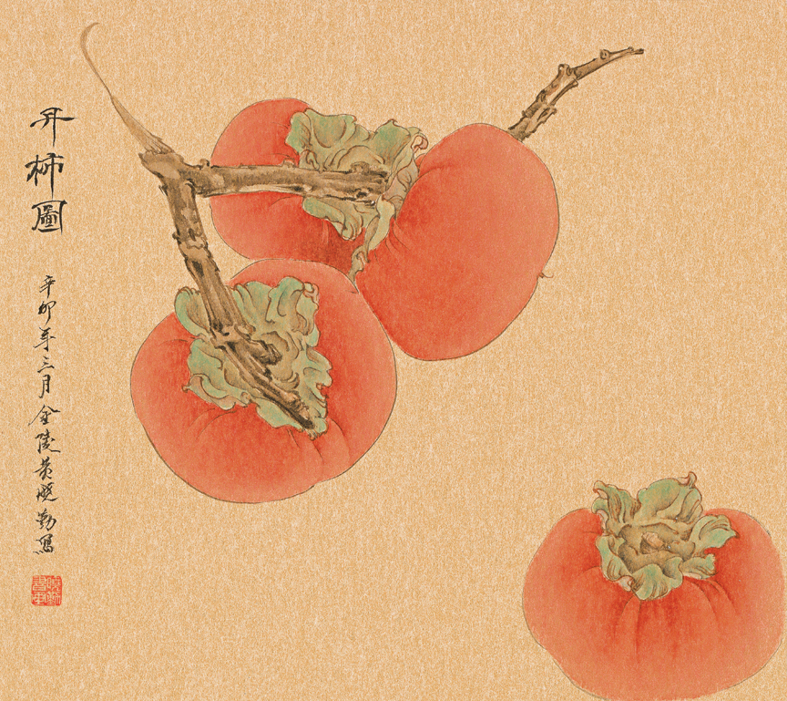 Three Persimmons, Plus One