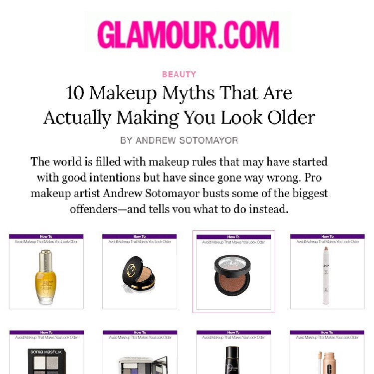Glamour.com: 10 Makeup Myths That Are Actually Making You Look Older