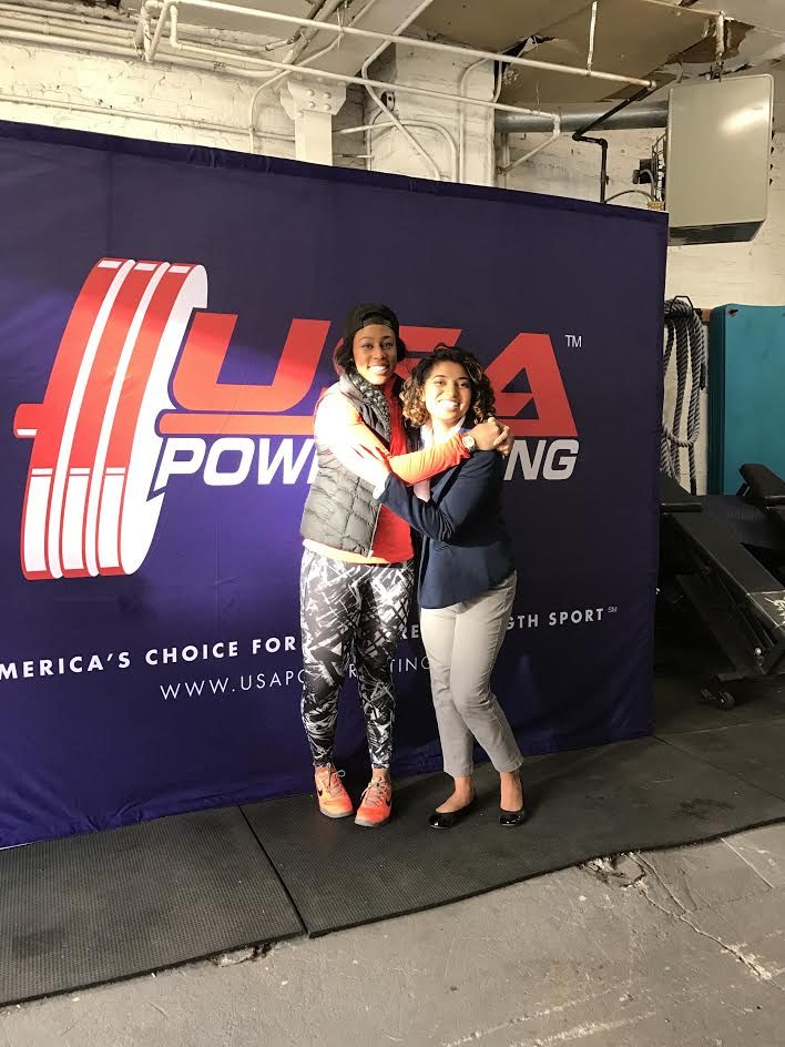 Sal with Monet Bland at a USA Powerlifting Meet