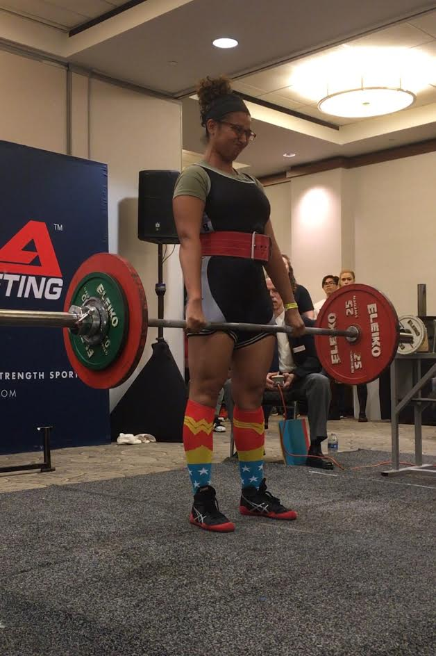 Sal deadlifting at USA Powerlifting's NJ State Championships in 2016
